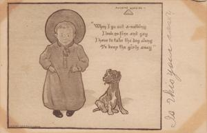 AS: Anthony Guarind, Toddler wearing hat, dog, PU-1911