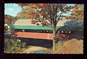 Brattleboro, Vermont/VT Postcard, The Creamery Covered Bridge