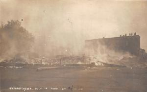 Bayard Iowa~July 14 1909 Smoldering Ruins From Fire~We Aren't Straight Yet~RPPC