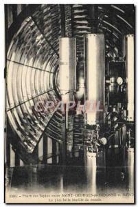 Old Postcard Lighthouse firs between Saint George de Didonne and Meschers The...