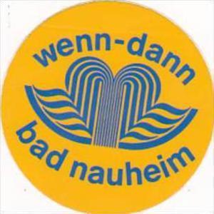 GERMANY BAD NEUHEIM WENN-DANN HOTEL VINTAGE LUGGAGE LABEL