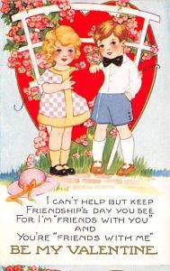 Whitney Made Valentines Day Postcard Unused