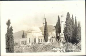 turkey, BURSA, Emir Sultan Camii, Mosque (1940s) RPPC
