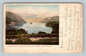 Hudson River NY, View From West Point Battery, Vintage New York c1904 Postcard
