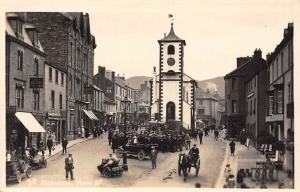 Keswick Cumbria Main Street voiture auto cars, animated