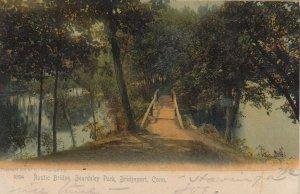 BRIDGEPORT , Ct. , 1906 ; Rustic Bridge , Beardsley Park