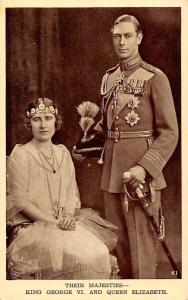 Their Majesties King George VI Queen Elizabeth