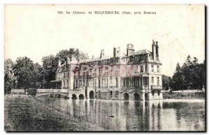 Old Postcard The castle Riquebourg near Ressons