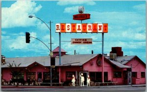Garden Grove, California Postcard BELISLE'S RESTAURANT Disneyland c1960s Unused
