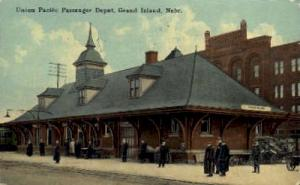 Union Pacific Passenger Depot, Grand Island,  Nebraska, NE, USA Railroad Trai...