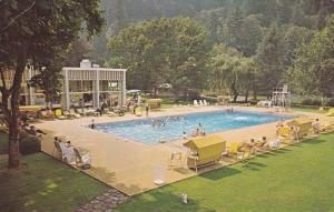 Swimming Pool , beautiful gardens of Harrison Hot Springs,  B.C.,  Canada,  4...