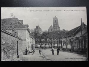 France: DOMART EN PONTHIEU (Somme) Rue de la Verte-T-Treille