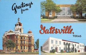 Gatesville Texas Historic Bldg Multiview Vintage Postcard K46828
