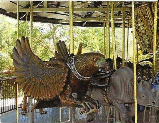 Handmade Postcard from Fine Art, Eagle on Marilyn's Merry-Go-Round Living Desert