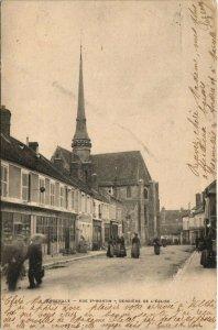 CPA EGREVILLE - Rue S'-MARTIN - Derriere de L'Église (120110)