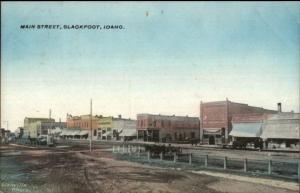 Blackfoot ID Main St. c1910 Postcard jrf