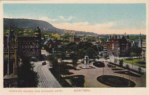 Air view, Dominion Square and Windsor Hotel, Montreal, Canada, 00-10s