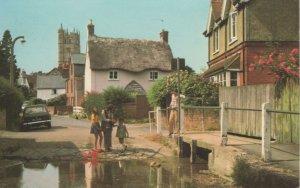 (au05) Isle of Wight Carisbrooke Castle Street and Ford Postcard