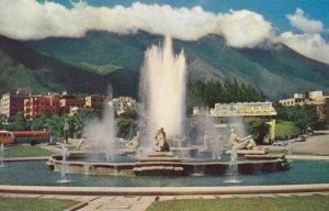 CARACAS , Venezuela , 1950-60s ; Plaza Venezuela , Water Fountain