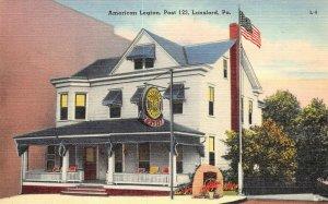 American Legion, Post 123, Lansford, Pennsylvania ca 1940s Vintage Postcard