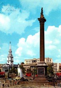 England London Trafalgar Square Nelson's Column 1963