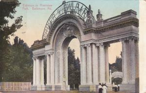 BALTIMORE, Maryland, PU-1909; Entrance to Riverview Park