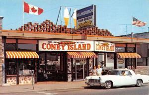 Niagara Falls Canada Coney Island Snack Bar Vintage Postcard K84471