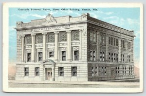 Neenah Wisconsin~Equitable Fraternal Union~Home Office Building~1920s Blue Sky