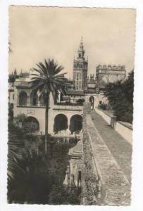 RP  Sevilla, Spain, 1940s La Giralda desde los Reales Alcazares