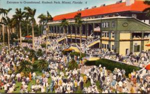 Florida Miami Hialeah Park Entrance To Grandstand