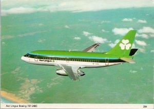 Aer Lingus Boeing 737-248C Airplane Aviation Unused Postcard C5