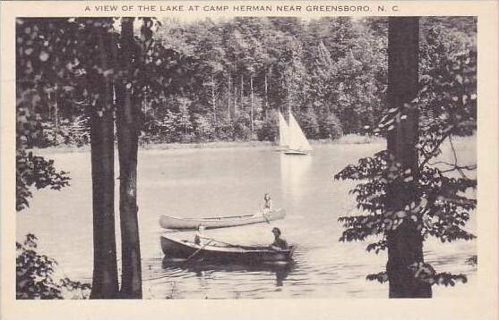 North Carolina Greensboro A View Of The Lake At Camp Herman Near