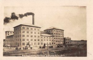 Garden City Kansas Sugar Factory Real Photo Vintage Postcard JJ658788