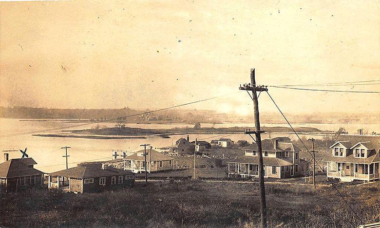New Brunswick Canada Aerial Harbor View Real Photo Postcard