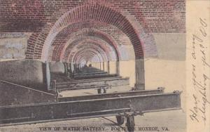 Virginia Fortress Monroe View Of Water Battery 1905