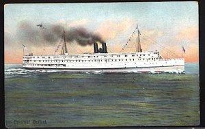 USA Postcard England Ireland Steamer SS Belfast