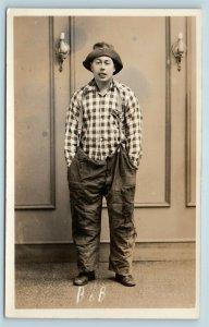 Postcard MD Frederick Radio Personality Bob WFMD c1930s RPPC Real Photo T5