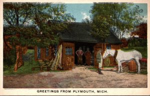 Michigan Greetings From Plymouth