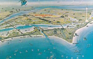 Florida Kennedy Space Center Aerial View Artist Concept