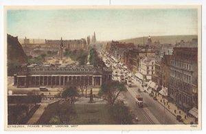 UK Scotland Edinburgh Princes Street Looking West Vintage Photochrom Postcard