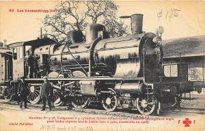 France 60 Les Locomotives (EST) Statistics Railroad Train Postcard
