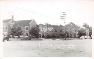 C54/ Mt Mount Pleasant Michigan RPPC Postcard 40s Barnes Hall Central College