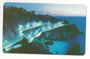 Mexico Acapulco Lopez Mateos Ave Aerial Night View Postcard