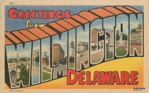1950s Large Letters Multi View Wilmington Delaware Teich postcard 12111