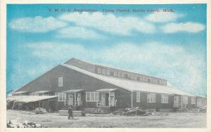 Battle Creek MI~Lumber by Delapidated Lean-To~Camp Custer~YMCA Auditorium~1917