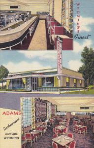 Interior Adams Restaurant Rawlins Wyoming Curteich