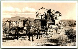 Vintage 1940s California RPPC Postcard Wanderers of the Wastelands FRASHER