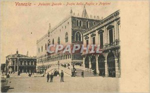 Postcard Old Venice Palazzo Ducale Ponte della Paglia e Prigioni
