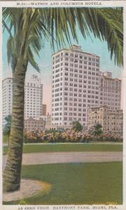 Watson & Columbus Hotels Miami Hotel Vintage American Postcard