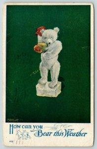 Charles Twelvetrees~Steiff Bear Fans~Sweats~This Weather!~Green~1906 Nat'l Art